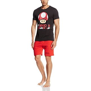Bioworld Nintendo - Shortama. Black/Red. Mens - L
