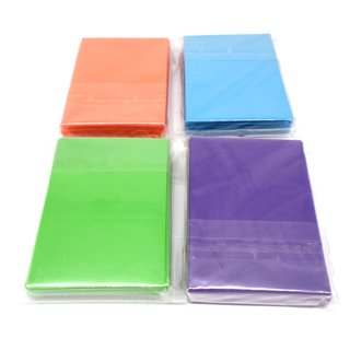 4 x 60 Docsmagic.de Double Mat Card Sleeves Small Size 62 x 89 - Light Blue Light Green Purple Orange - YGO - Mini Kartenhüllen